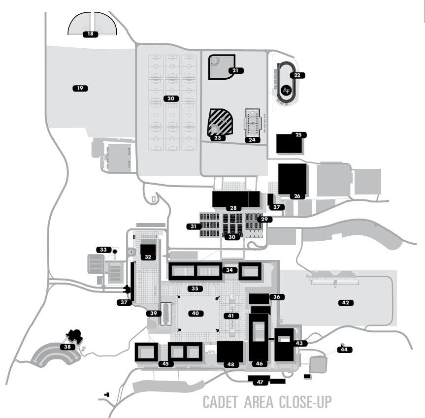 The United States Air Force Academy   Map and Building Index